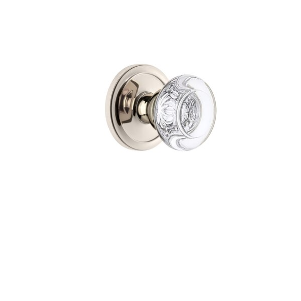 Bordeaux Privacy Door Knob with Circulaire Rosette by Grandeur