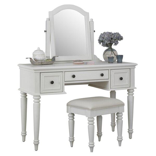 White Vanity Desk With Mirror.Bedroom Makeup Vanities