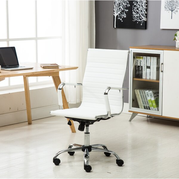 High-Back Leather Office Executive Chair by Famis Corp