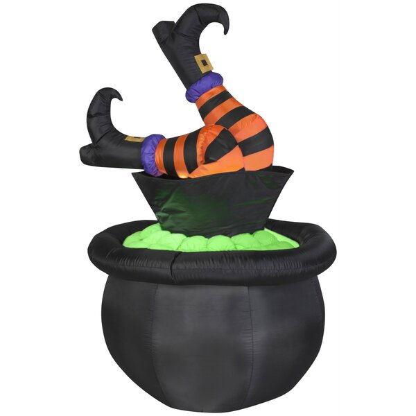 Witch Legs in Cauldron Inflatable by The Holiday Aisle