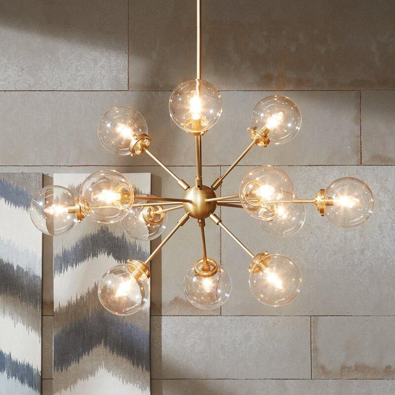 Langley street benites 12 light sputnik chandelier reviews wayfair benites 12 light sputnik chandelier aloadofball Images