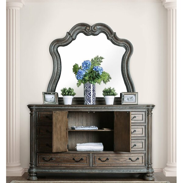 Dugan 8 Drawer Double Dresser With Mirror By Canora Grey
