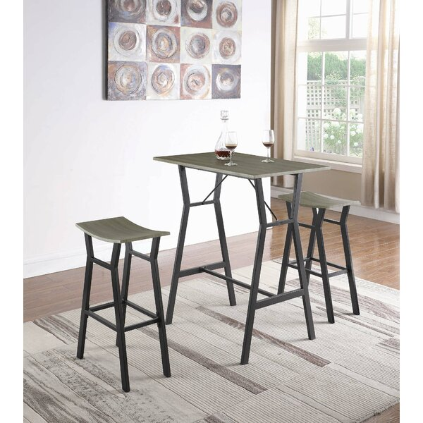 Carrico 3 Piece Pub Table Set by Williston Forge