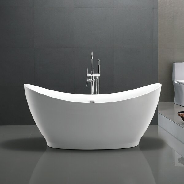 Reginald Series 68 X 31 Freestanding Soaking Bathtub By Anzzi.
