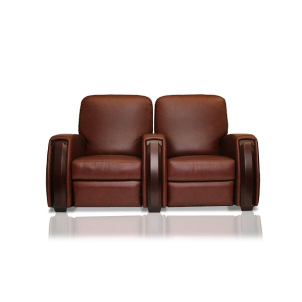 Patio Furniture Celebrity Leather Home Theater Row Seating (Row Of 2)