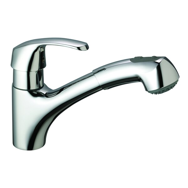 Alira Single Handle Single Hole Standard Kitchen Faucet with Dual Spray and SilkMove® by Grohe