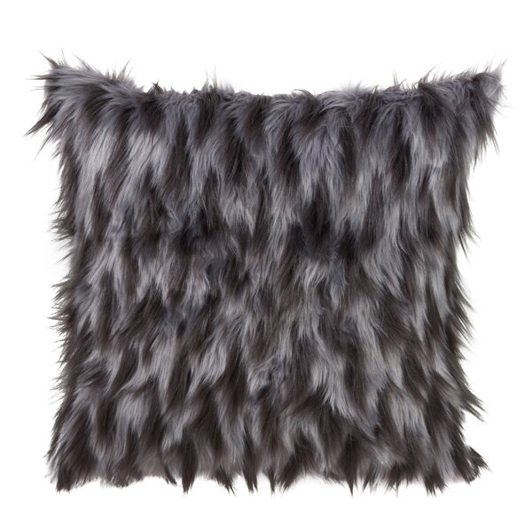 Lori Faux Fur Decorative Throw Pillow by Mercer41