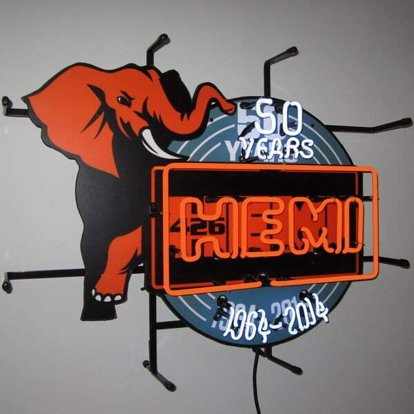 Hemi 50Th Anniversary Neon Sign by Neonetics