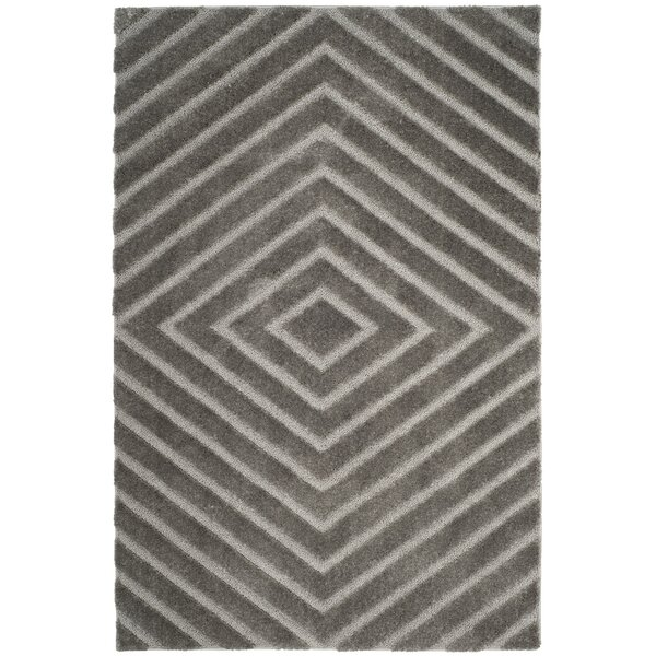 Helms Brown/Gray Area Rug by Wrought Studio