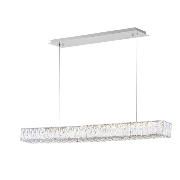 1-Light LED Rectangle Chandelier by CWI Lighting CWI Lighting