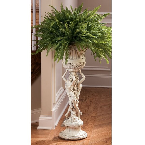 Neoclassical Les Filles Joyeuses Pedestal Plant Stand by Design Toscano