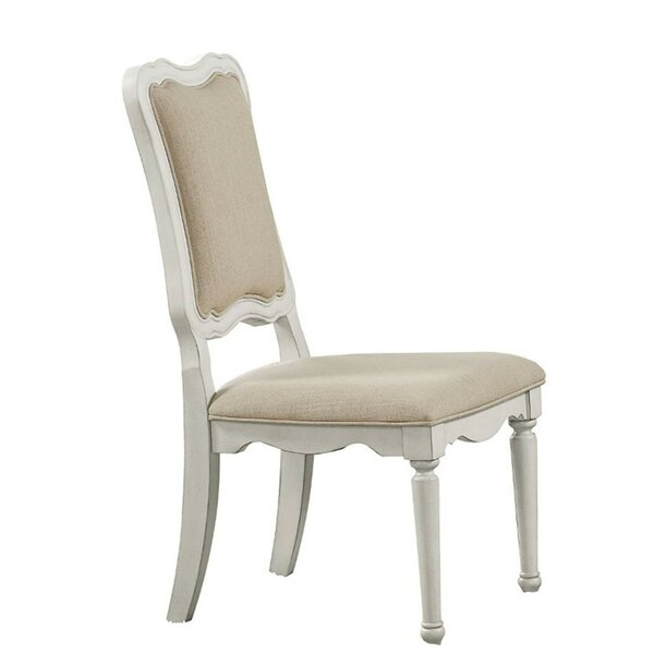 Elisa Linen Fabric Upholstery Side Chair by Ophelia & Co.