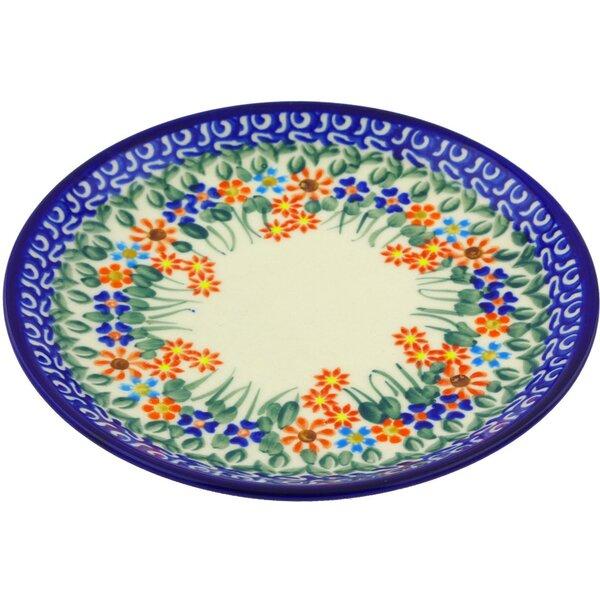 Blissful Daisy Polish Pottery Decorative Plate by Polmedia