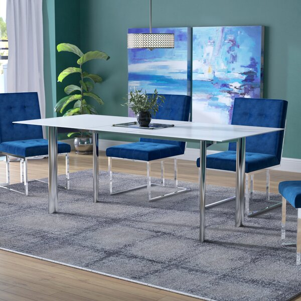 Marnisha Extendable Glass Top Dining Table by Willa Arlo Interiors