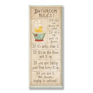 Rubber Ducky Typography Skinny Framed Textual Art by Harriet Bee