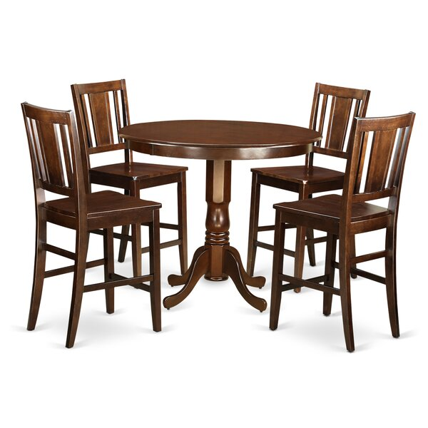 Trenton 5 Piece Counter Height Pub Table Set by Wooden Importers