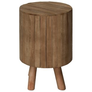 Low priced Peabody Round Drum Wood End Table By Union Rustic