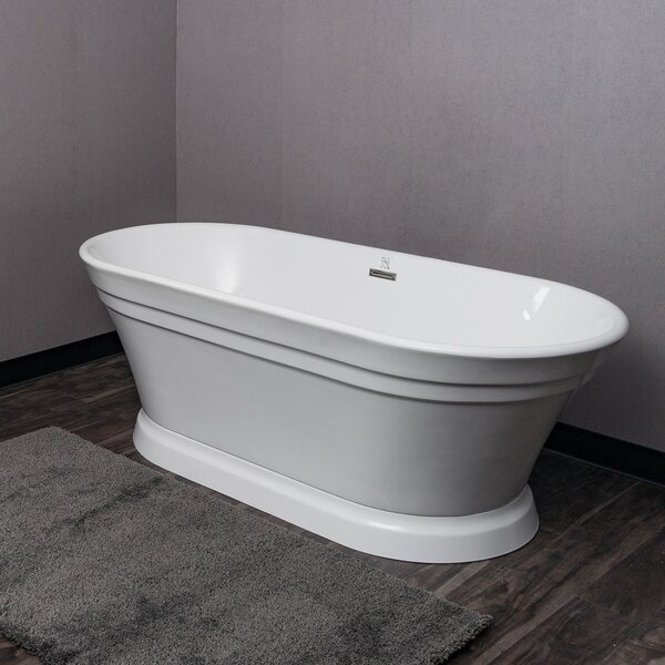 Acrylic Spa 67 x 31 Freestanding Soaking Bathtub by AKDY