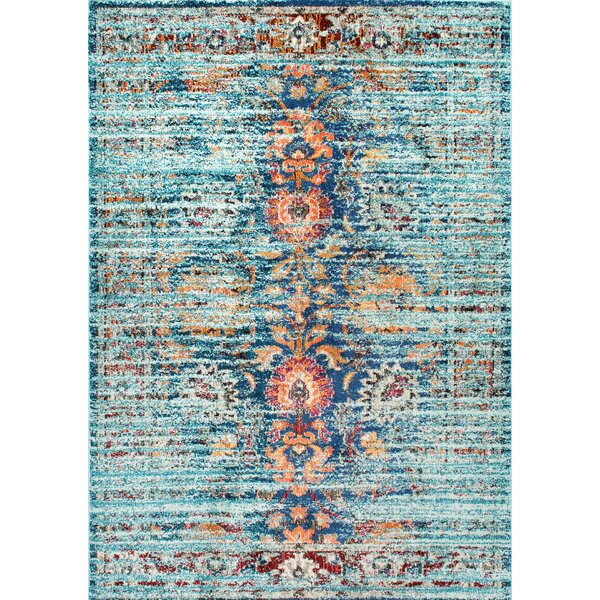 Sykora Blue Area Rug by Bungalow Rose