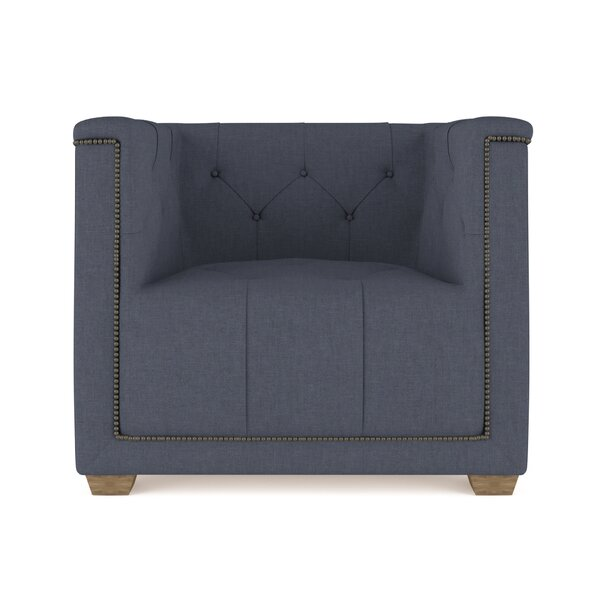Augill Linen Barrel Chair by Canora Grey
