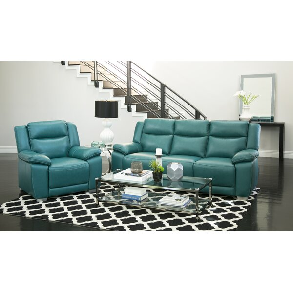Evansburg 2 Piece Leather Reclining  Living Room Set by Red Barrel Studio