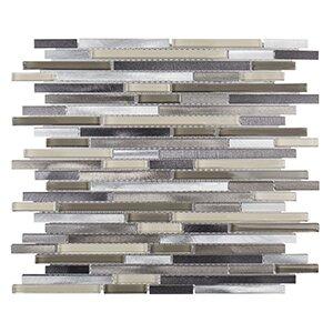 Coastal Forest 11.25 x 11.75 Pyritte Haze Mosaic Tile in White/Beige by Kellani