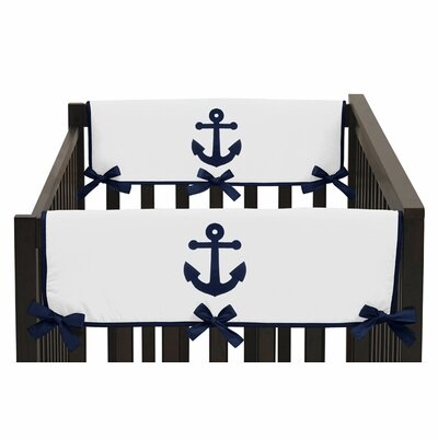 Anchors Away Crib Rail Guard Cover (Set of 2) by Sweet Jojo Designs