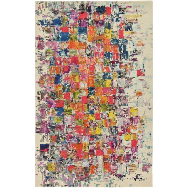 Oldsmar Red/Yellow Area Rug by Latitude Run
