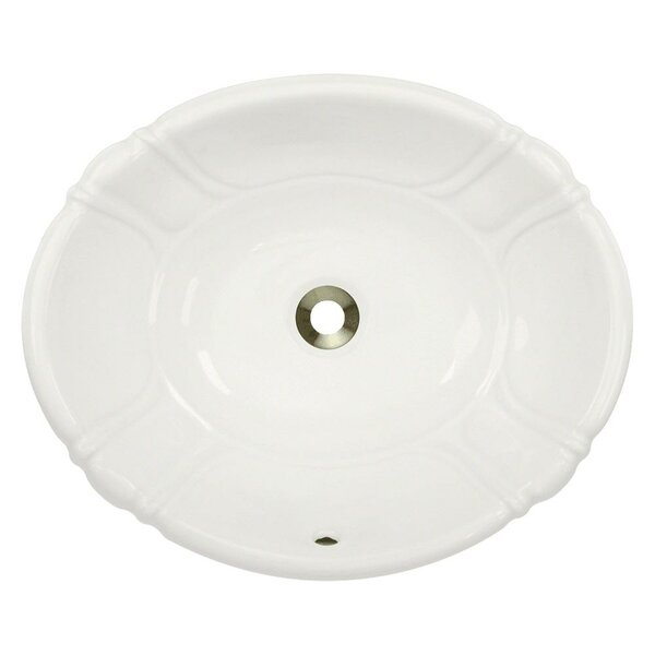 Vitreous China Oval Drop-In Bathroom Sink with Ove