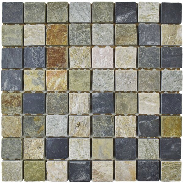 Peak 1.375 x 1.375 Natural Stone Mosaic Tile in Gray by EliteTile