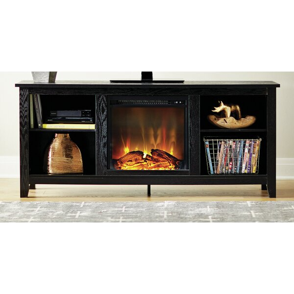 Sunbury 53 Tv Stand With Electric Fireplace By Beachcrest Home.