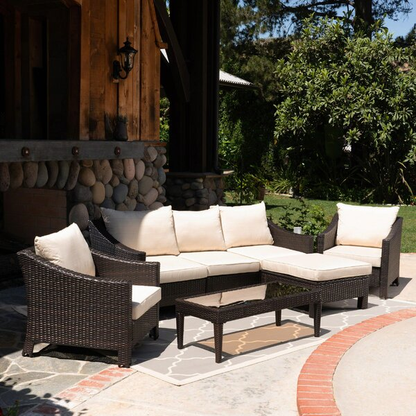 Portola 7 Piece Sectional Seating Group with Cushions by Sol 72 Outdoor