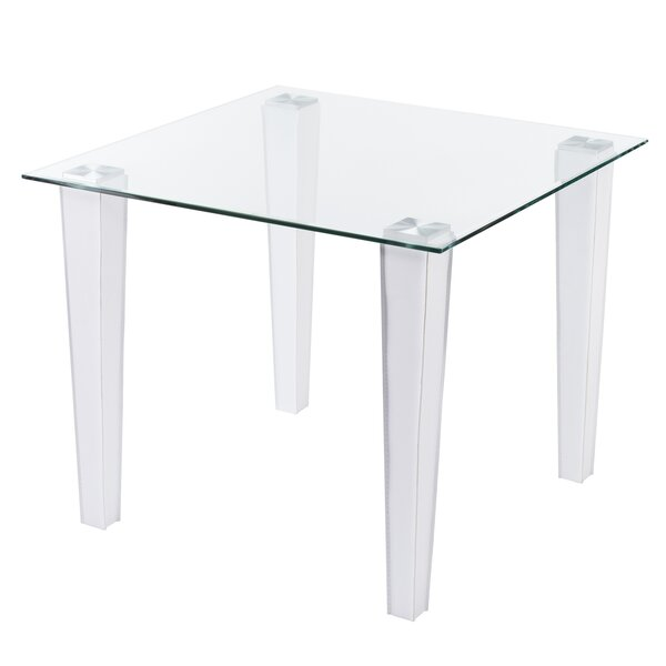 Vojtech Small Space Faux Leather Dining Table by Orren Ellis