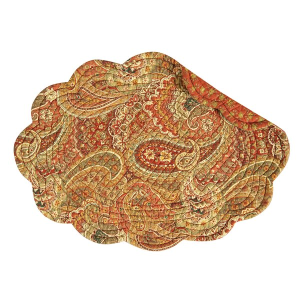 Devon Cotton Quilted Oval Placemat (Set of 6) by Alcott Hill