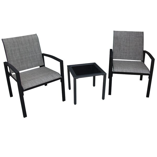 Campos 3 Piece 2 Person Seating Group by Ebern Designs