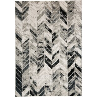 Dow Grey Black Area Rug