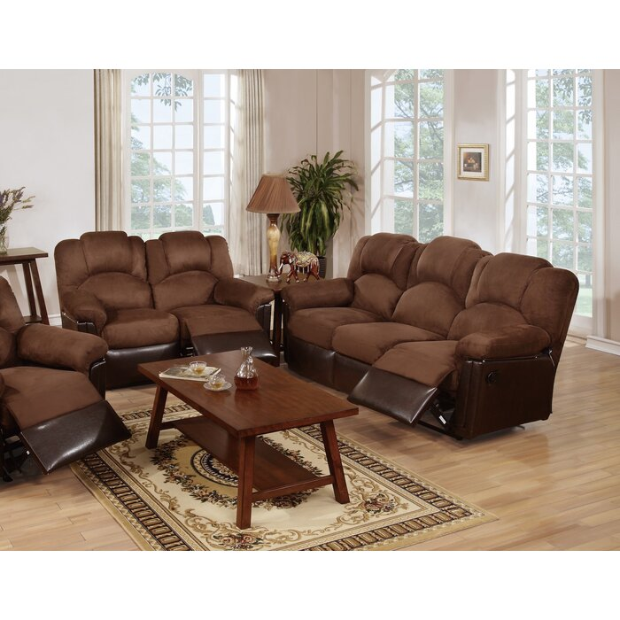 Ingaret 2 Pieces Leather Reclining Living Room Set