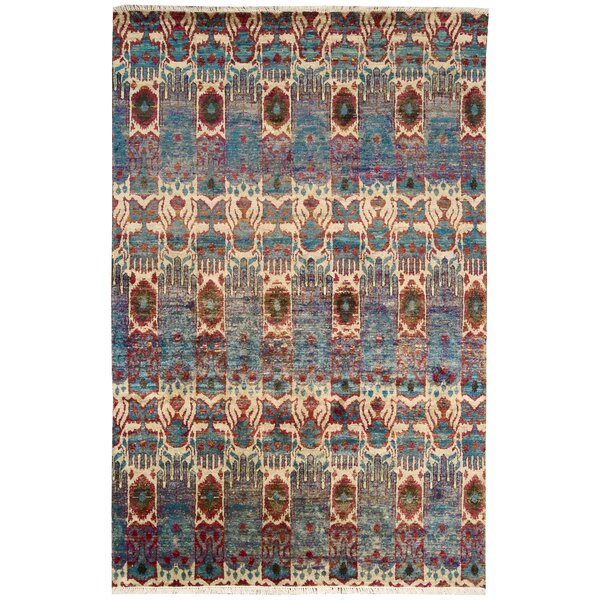 Pinos Hand knotted Ikat Area Rug by Bloomsbury Market