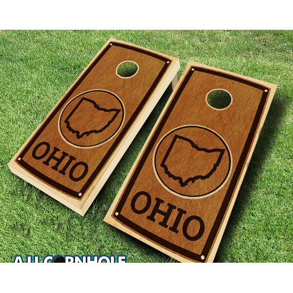 Ohio Stained 10 Piece Cornhole Set by AJJ Cornhole