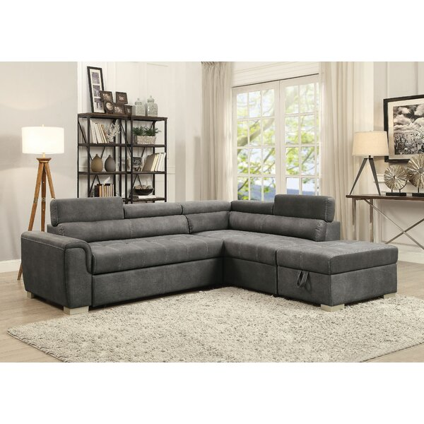 Grosse Sleeper Sectional With Ottoman By Latitude Run