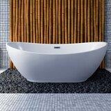 62 x 28.3' Freestanding Soaking Bathtub byStreamline Bath