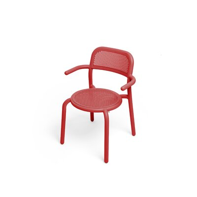Toní Stacking Patio Dining Chair Fatboy Color: Industrial Red