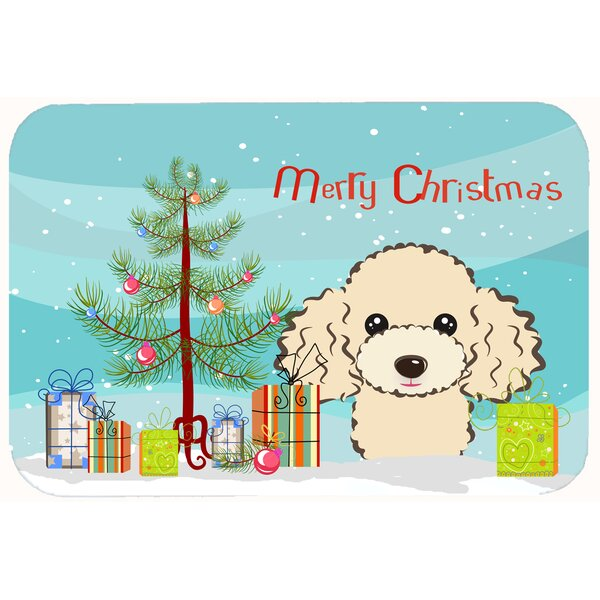 Christmas Tree and Poodle Kitchen/Bath Mat by The Holiday Aisle