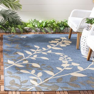 Laurel Blue / Beige Indoor/Outdoor Rug By August Grove