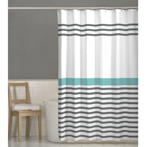 Prastio Simple Stripe Shower Curtain by Beachcrest Home