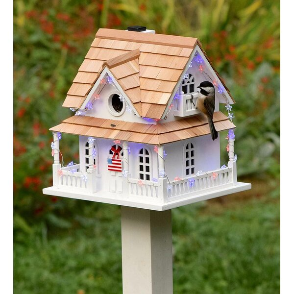 Americana Lighted 10.5 x 9 x 10 in Birdhouse by Plow & Hearth