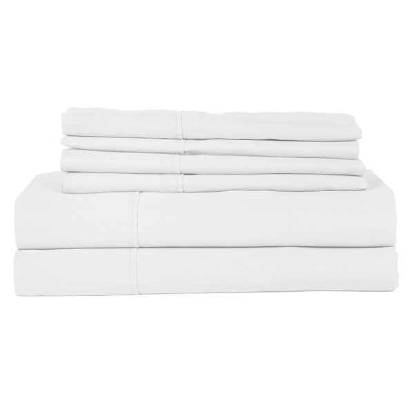 Perthshire Platinum 6 Piece 410 Thread Count Egyptian Quality Cotton Sheet Set by H.N.International