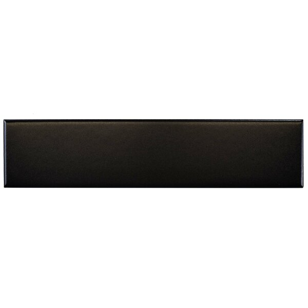 Retro 1.75 x 7.75 Porcelain Subway Tile in Black by EliteTile