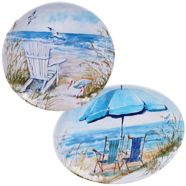 Cavallaro 2 Piece Melamine Platter Set by Highland Dunes