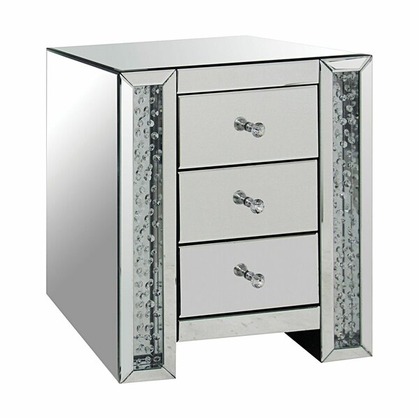 Imala 3 Drawer Nightstand by House of Hampton